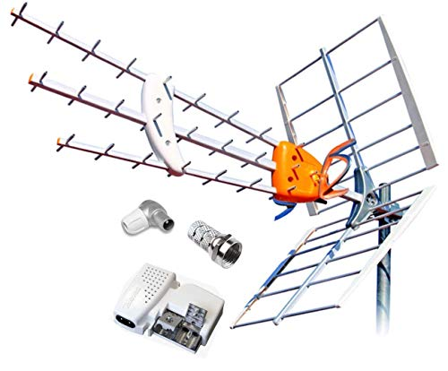 KIT ANTENA TELEVES BOSS 790 HD CON FILTRO LTE Y PREVIO MRD INTELIGENTE + FUENTE DE ALIMENTACION 5795 Y CONECTORES