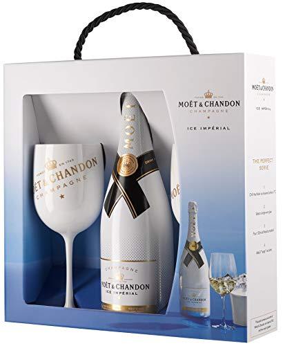 Moet & Chandon Ice Imperial Geschenk Set Champagner Flasche und inklusive zwei Gläser