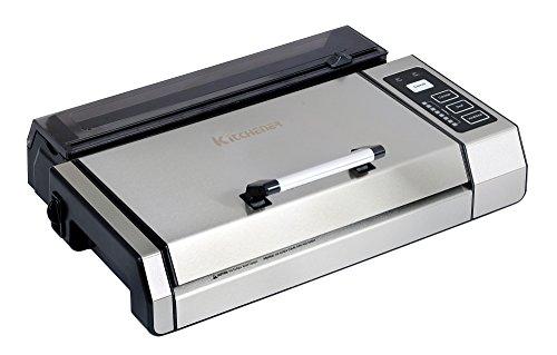 """Kitchener 55023006 automático de Alimentos Frescos sellador del vacío Ahorro de Grado Comercial con Arranque Roll, 11"""" x 16"""", Plata/Negro"""