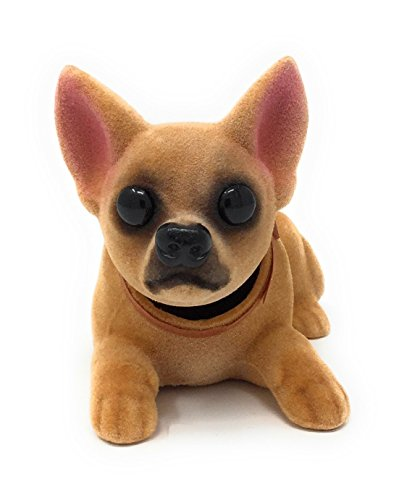 Noveltees Company Bobbing Head Dog, Bobble Head Chihuahua, Lying Down