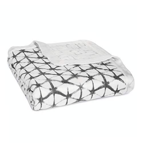 aden + anais silky soft dream blanket 4 layer pebble shibori ,9319G