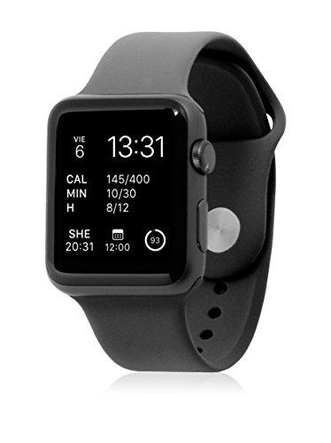UNOTEC Uhrenband für Smartwatch Sport Apple Watch 42 mm schwarz