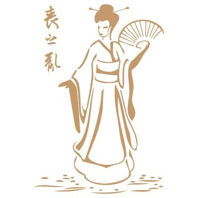 TODO-STENCIL Deco Vintage Composición 049 Geisha Abanico. Medidas aproximadas: Medida Exterior 20 x 30 cm Medida del diseño:14,8 x 21,4 cm