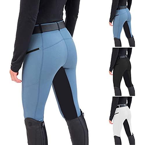 WANGSHE Reithose für Damen, schmal, sexy, Hüftlifting, Bauchkontrolle, schmale, lange Hose, Reithose, weiche Stretch-Baumwolle, Elastan, für Workout und Laufen, Schwarz , XXL