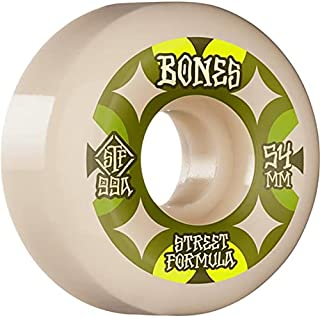 Bones Skateboard Wheels 54mm Retros V5 Sidecut STF 99A White