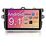 Binize Android Car Stereo Radio, 9 inches Touch Screen Car Multimedia,GPS Navigation,FM,Mirror Link,WiFi,Bluetooth,USB,Support Backup Camera Input(for Toyota Corolla 08-11) (Corolla2GRAM+32GROM)