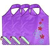Abaodam 3 bolsas de compras reutilizables bolsas de almacenamiento plegables bolsas de almacenamiento portátiles