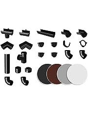 RAINWAY L regengoten systeem (buisgewicht 67° antraciet) - PVC-U kunststof in 4 kleuren, voor dakoppervlakken > 100m² aanbevolen, aftakbuisboogaccessoires