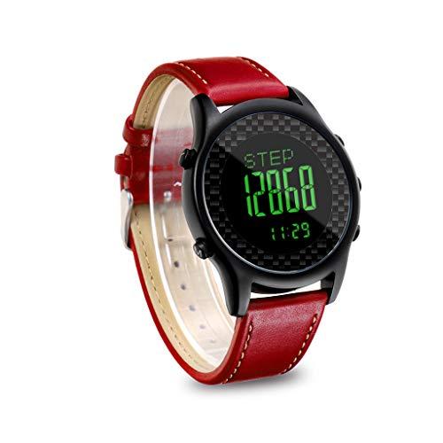 JingJingQismart polsband Spovan Smart Watch Sport Polshorloge Stappenteller Altimeter Kompas 50M Waterdichte Pacer