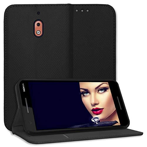 mtb more energy® Schutz-Tasche Bookstyle für Nokia 2.1 (5.5'') - schwarz - Kunstleder - Klapp-Cover Hülle Hülle
