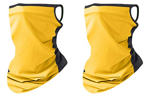 2 pcs Masks for Men/Women - Fashion Masks for Women - Sports Hats - Cool Masks for Jogging, Yoga, Against air Pollution, smog (Yellow)