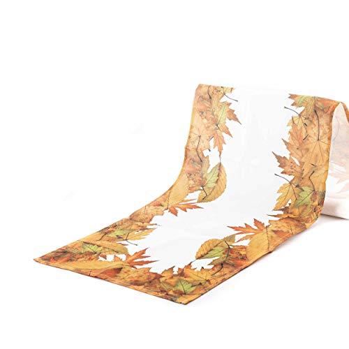 knuellermarkt.de Tischläufer im Herbst-Design mit Blätter-Motiv