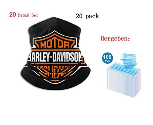 not Balaclava Harley Davidson Face Mask, Multifunctional Headwear Neck Gaiter for Men & Women, 3D Dust Mask Sun UV Dust Wind Proof for Outdoor Camping, Running, Motorcycling, Fishing, Hunting