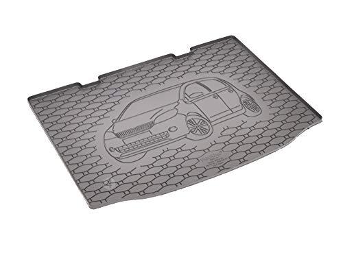 Passgenau Kofferraumwanne geeignet für VW Up ab 2011 ideal angepasst schwarz Kofferraummatte + Gurtschoner