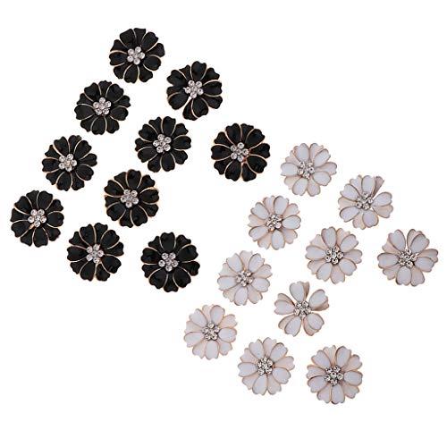 F Fityle 20x Flatback Rhinestone Flower Manualidades Mixtas para Hacer Tarjetas de álbum de Recortes Diy
