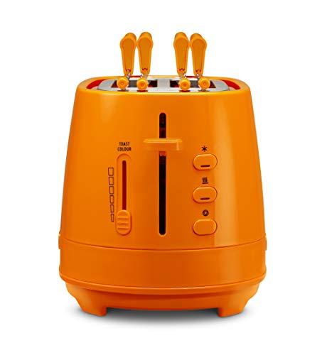 Dè Longhi CTLAP2203 broodrooster met tang, 550 Watt Oranje.