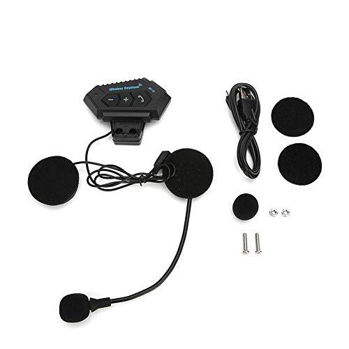 Auriculares Bluetooth para Motocicleta/Altavoces de intercomunicación a Prueba de Agua 4.1 + EDR CSR8635 Casco Auriculares Reducción de Ruido Auriculares Manos Libres para Montar