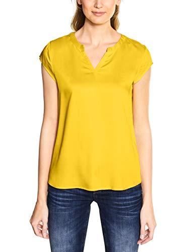Street One Damen 341902 Bluse, Shiny Yellow, 42