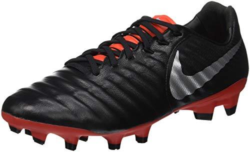 Nike Legend 7 Pro FG, Zapatillas de Fútbol Unisex Adulto, Negro (Black/Metallic Silver/Lt Crimson 006), 41 EU