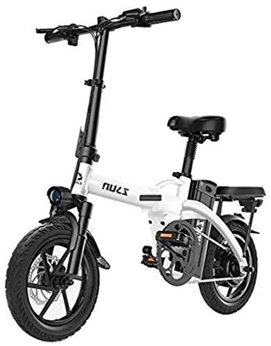 Fangfang Bicicletas Eléctricas, Plegable EBike, 4000W Aluminio Bicicleta eléctrica con Pedal for Adultos y Adolescentes, 14' Bicicleta eléctrica con 48V / 40AH de Litio-Ion,Bicicleta