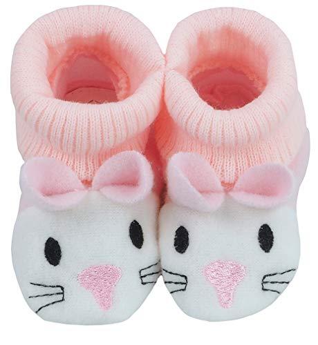 Baby Schuhe Strickschuhe Erstlingsschuhe Häschen das kleine Geschenk (0-3 Monate) Rosa