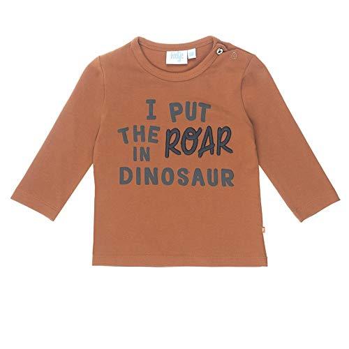 Feetje T-Shirt à Manches Longues pour bébé garçon I Put Stay Wild - Marron - 9 Mois