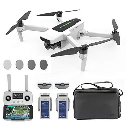 Hubsan Zino 2+ GPS FPV Drone Pieghevole 9KM 35 Minuti 4K 60FPS Fotocamera Gimbal Rimovibile a 3 Assi (Versione a Sacchetto + ND Filtro)