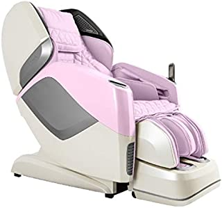 OSAKI OS-PRO MAESTRO Electric Full Body 4D Massage Chair, Heated back roller, SL Track Roller Design, Foot & Calf Kneading Massage, Bluetooth Connection for HD Speaker, Backrest Scanning (Pink)
