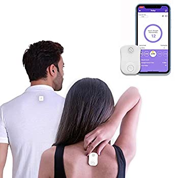 Strack Smart Posture Trainer and Corrector Upper Back Trainer for Women and Men Neck and Back Pain Support Device with App for Posture Tracking and Management Compatible with IOS and Android