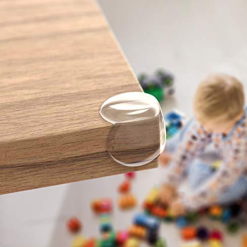 Nookys Eckenschutz - 12 Stück - Transparenter Kantenschutz für Babys und Kinder - Selbstklebender Tischkantenschutz mit maximaler Haftung - Rückstandslose Entfernung