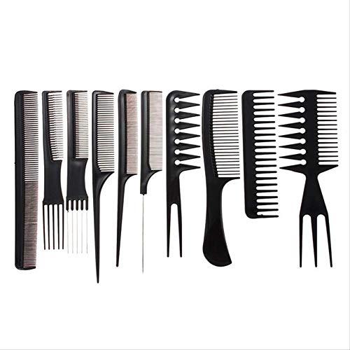 WSGYA 10 pcs/ensemble De Professionnel Peigne À Cheveux Salon De Coiffure Coiffeur Anti-statique Peigne Brosse À Cheveux Styling Outils
