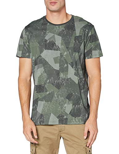 ESPRIT Herren 080EE2K301 T-Shirt, 348/LIGHT Khaki 4, Small