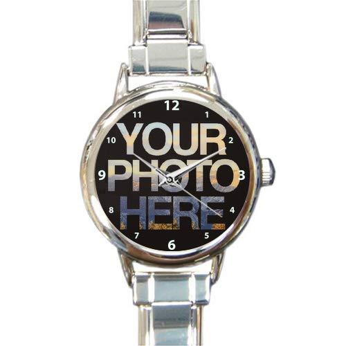 Personalised Photo Italian Charm Watch Nomination Style Link Bracelet Image Picture Logo (Round Charm)