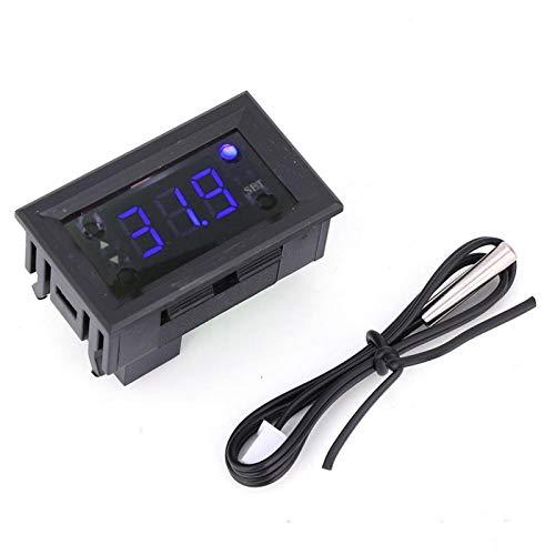 W1218-20 ~ 100 ℃ Controlador de temperatura digital Precisión de medición 1 ℃ Rojo/Azul (opcional) Regulador de termostato DC12V(azul)