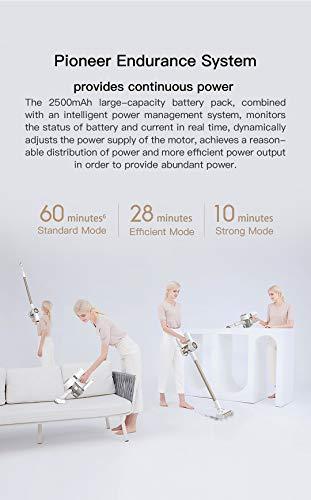 Dreame V10 Pro aspirapolvere Senza Fili, 450 W di Potenza e 22000 Pa, scopa elettrica per aspirapolvere manuale 6 in 1, fino a 60 minuti e schermo visualizzato, EU Versione