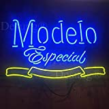 LeeQueen Creative Design Customized 17inx13in Modelo Especial 1925 Neon Sign (MultipleSizes) Man Cave Sports Bar Pub Beer Lamp Glass Light CX20