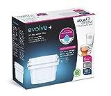 Aqua Optima 1 Pack 30 días Maxtra+ compatibles con Cartuchos de Filtro de Agua Evolve+, Blanco, 6 Unidad (Paquete de 1), 6