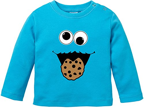 EZYshirt® Cookie Monster Baby T-Shirt Longsleeve Bio Baumwolle