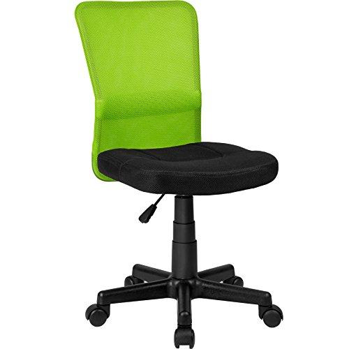 TecTake Bürostuhl Drehstuhl Schreibtischstuhl - Diverse Farben - (Schwarz-Grün | Nr. 401796)