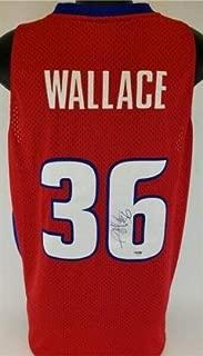 Rasheed Wallace Autographed Signed Memorabilia Detroit Pistons Reebok Jersey JSA COA Nba Champ 2004