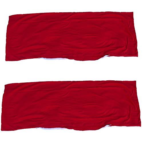 Economy 2er Pack Seitenschläferkissen Bezug Kissenbezug Schwangerschaftskissen Körperkissen 40 x 120 cm Baumwolle (Rot)