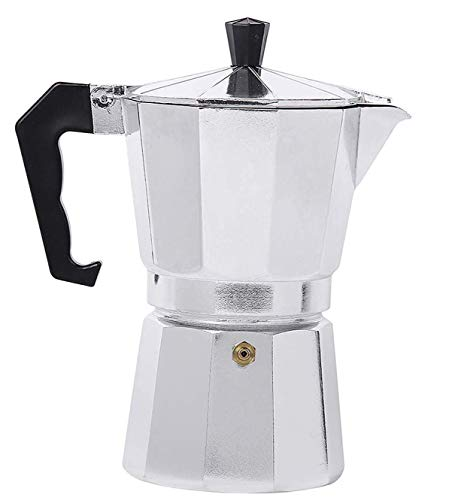 Coffee Maker Pot 1 Cup, 2Cup, 4Cup, 6 Cup, Aluminium Percolator Espresso Maker Traditional Stovetop Coffee Maker Pot for Outdoor Home Office (2 Cup)