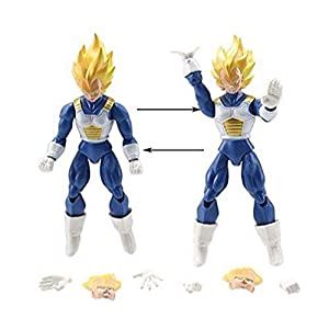 """6x Dragon Ball Z 5"""" Figures: Piccolo Cell Trunks Super Saiyan Goku Gohan Vegeta"""