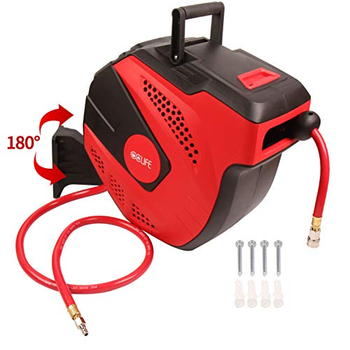 CCLIFE Automatik Schlauchtrommel Drucklufttrommel Druckluftschlauch | 1/4