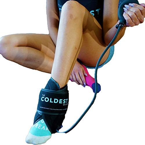 The Coldest Ankle Ice Pack with Air Compression - Ice Wrap with Cold Gel Pack   Best for Achilles Tendon Injuries, Plantar Fasciitis