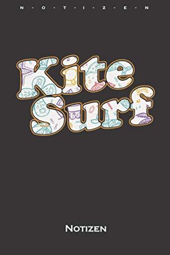 Kite Surf am Meer Notizbuch: Kariertes Notizbuch für Fans des Wassersports