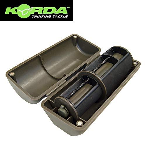 Korda Chodsafe - Angelbox mit Wickelrolle für Karpfenmontagen, Tacklebox für Karpfenrigs, Wickelspule mit Box für Karpfenvorfächer