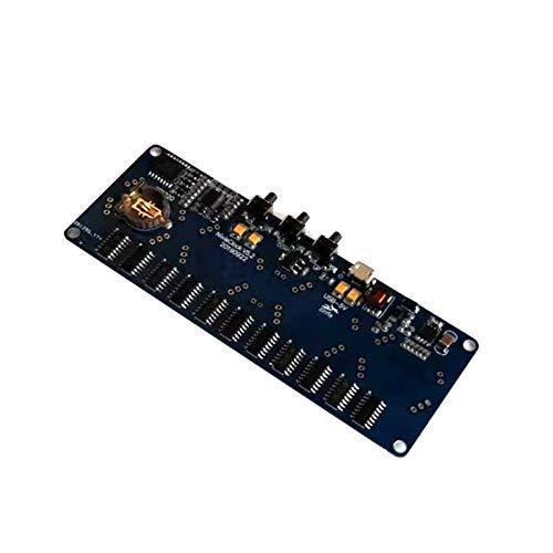 TSAUTOP Newest Kit de Bricolaje electrónico No Hay Tubos IN4 IN8 IN8-2 IN12 IN14 IN16 IN18 IN18 IN18 Nixie Tubo Digital LED Reloj DE Regalo Tablero de circuitos de Regalo (Color : In8)