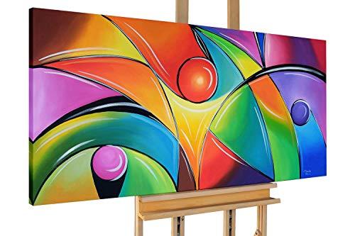 KunstLoft® Acryl Gemälde 'Polychromie' 140x70cm handgemalt Leinwand Bild