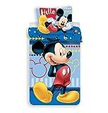 JF Disney Mickey Mouse - Juego de Cama (Funda de edredón de 140 x 200 cm, Funda...